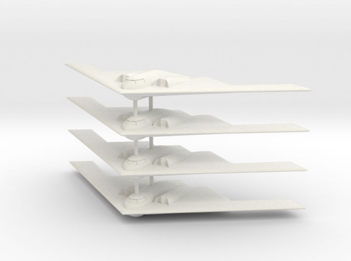 1/700 B-2 Spirit (No Landing Gear) (x4) 3d printed