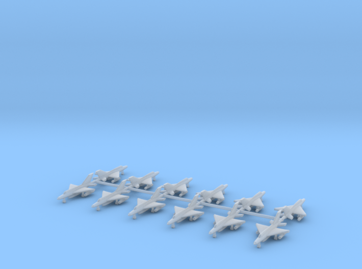 1/700 MIG-21 Fishbed (x12) 3d printed