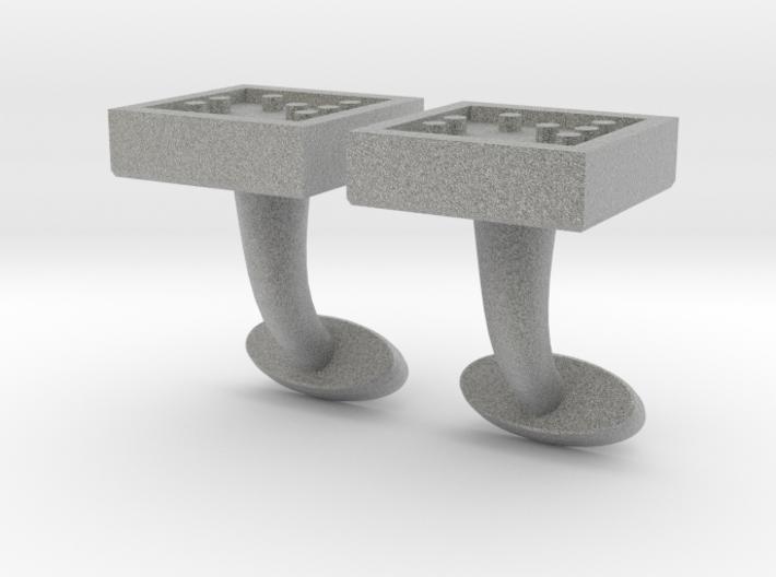 Braille cufflinks square 3d printed