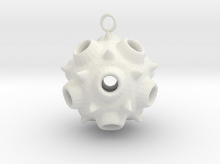spore earring 1 3d printed