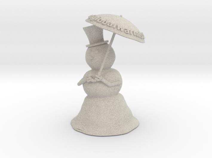 Snowman anti global warming 3d printed