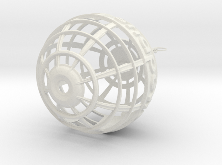 Logo Globe on Chain 3d printed