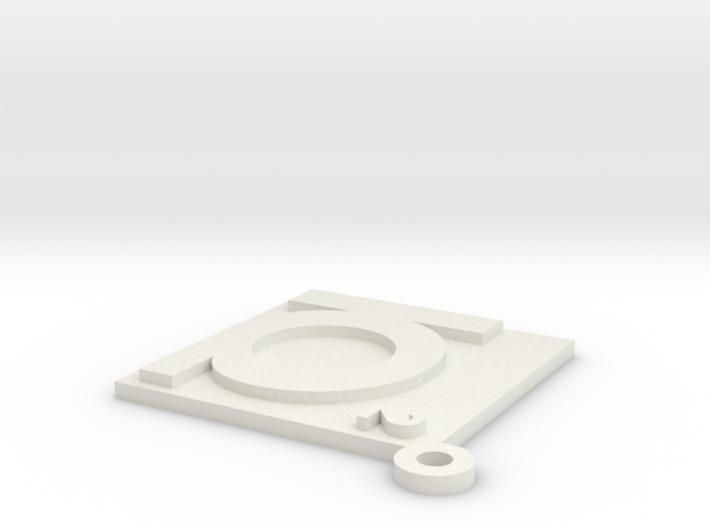 IQ² Logo 3d printed