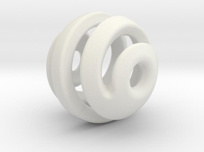 sphere spiral 16mm 3d printed