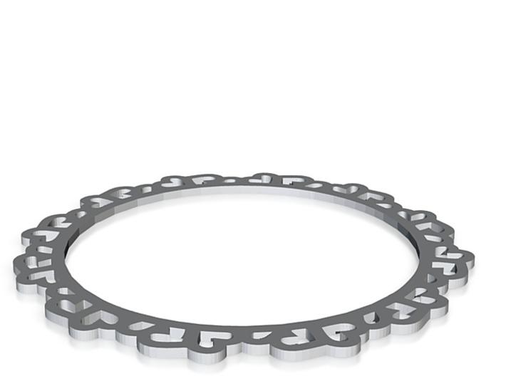 Medium Heart Bracelet 3d printed