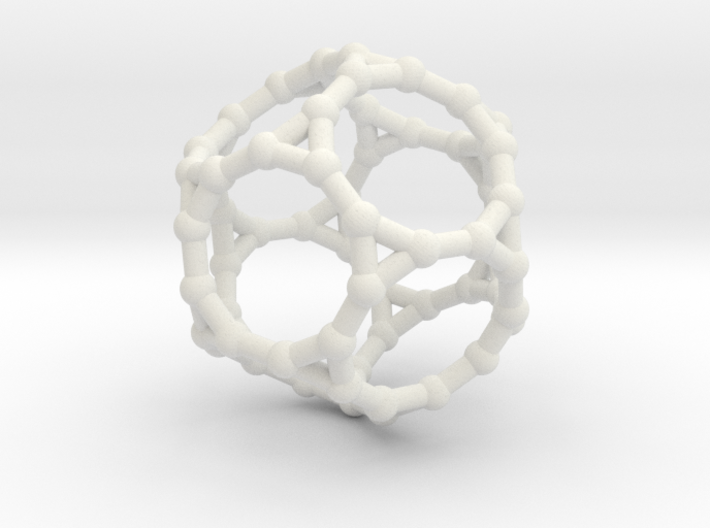 Truncated dodecahedron 3d printed