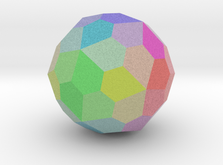 Colorful Pentagonal Hexecontahedron 3d printed