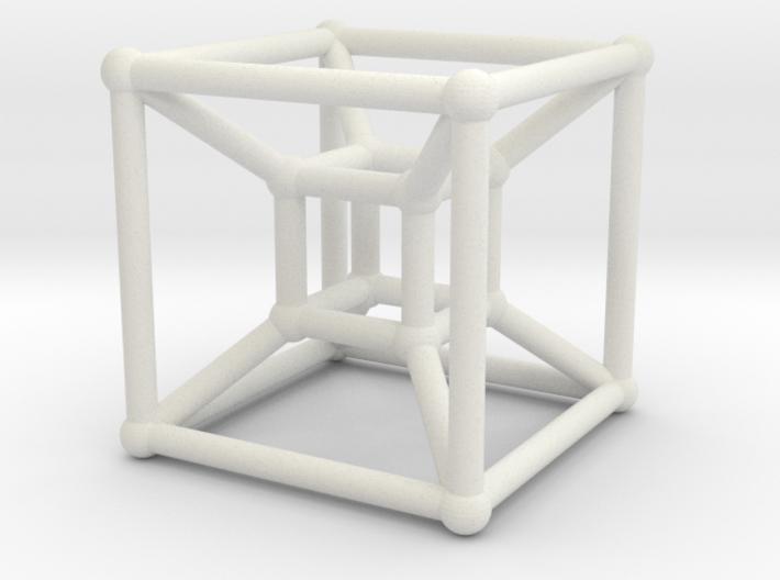 8-cell (Hypercube) 3d printed Rendering