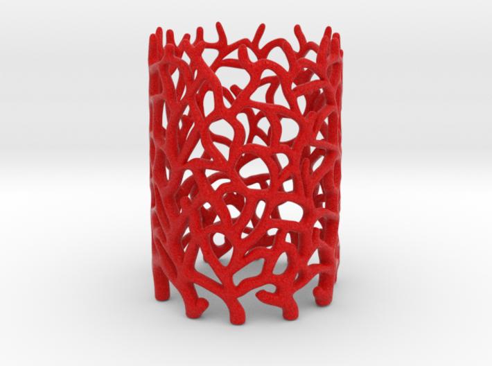 Coraline Tealight Red Sandstone 3d printed