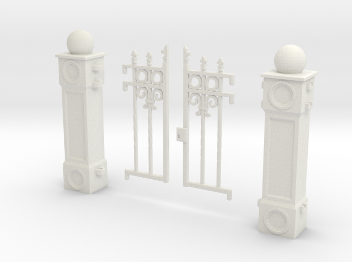 Iron Fence Gate 3d printed