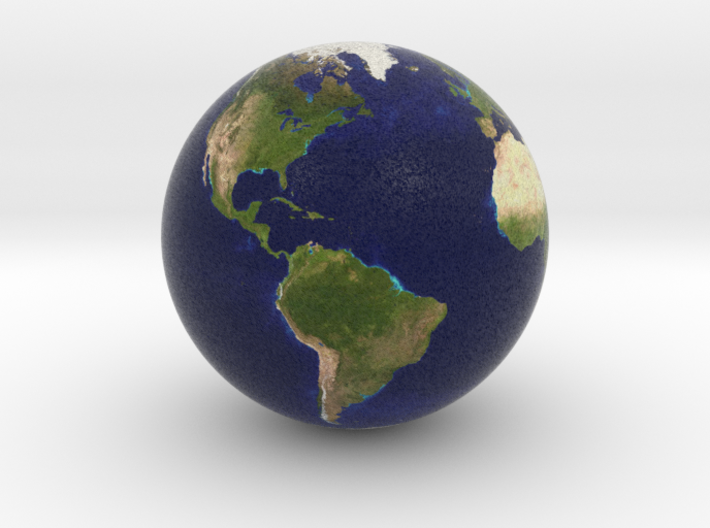 Earth Marble 1.0 inches in Diameter 3d printed