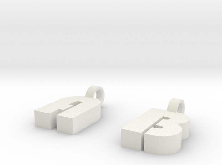 1-2 Char Glass Charm 3d printed