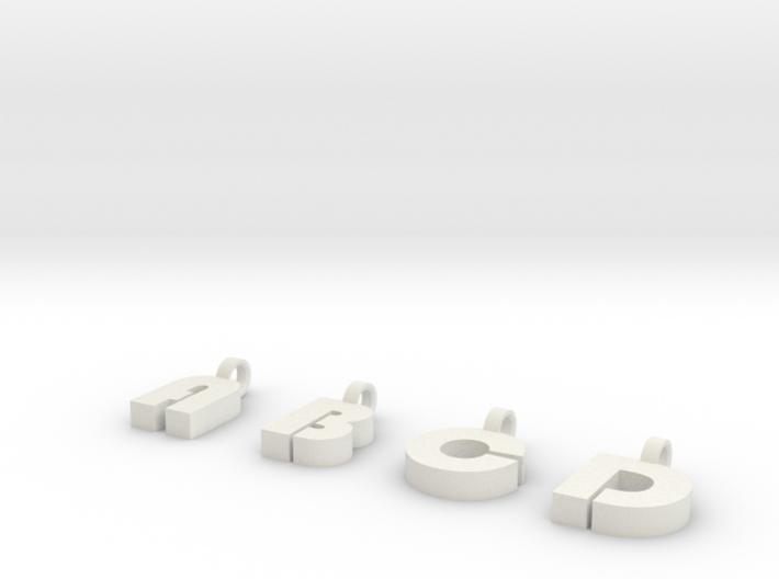 3-4 Char Glass Charm 3d printed