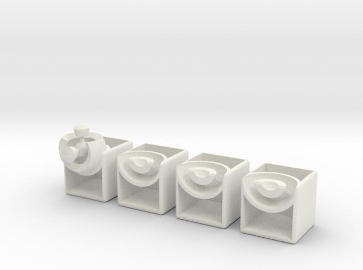 Minimis 2x2x1 (hollow) 3d printed