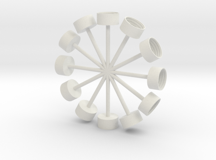 Pop Clocks 3d printed