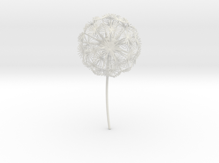 Dandelion abstract art piece 3d printed