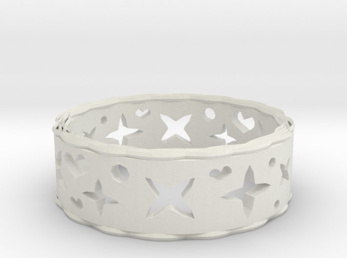 Ring Heart Star 3d printed
