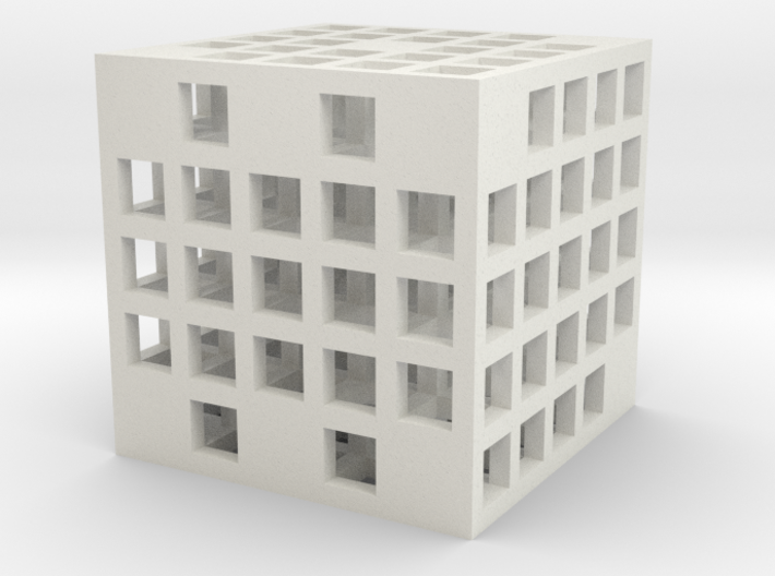 Steel Grid Die #2 (2.5 cm) 3d printed