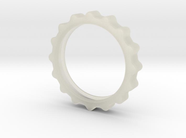 Curvy Ring 3d printed