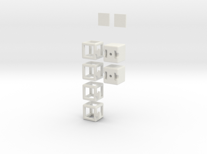 Partially Hollow 1x2x3 3d printed
