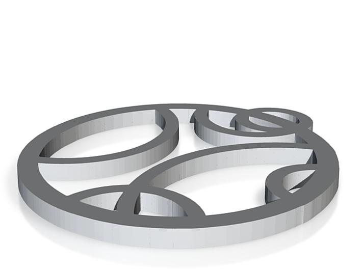 hanger cirkel back 3d printed