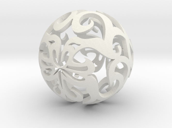 Curlicue ball 1 3d printed