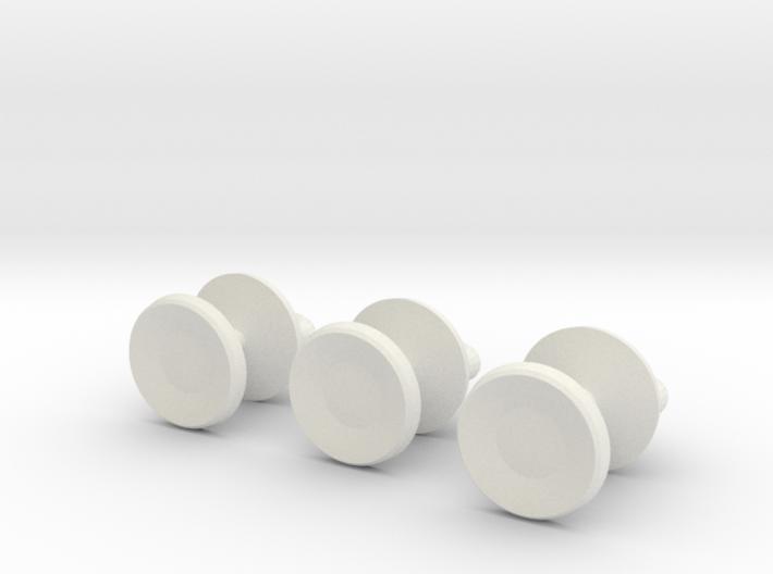 Mazeball Padlock Studs 3d printed