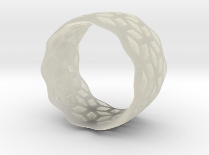 geometric ring 6 3d printed