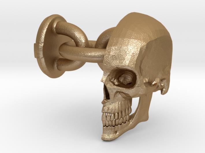 Signature Skull Cufflink - Left 3d printed