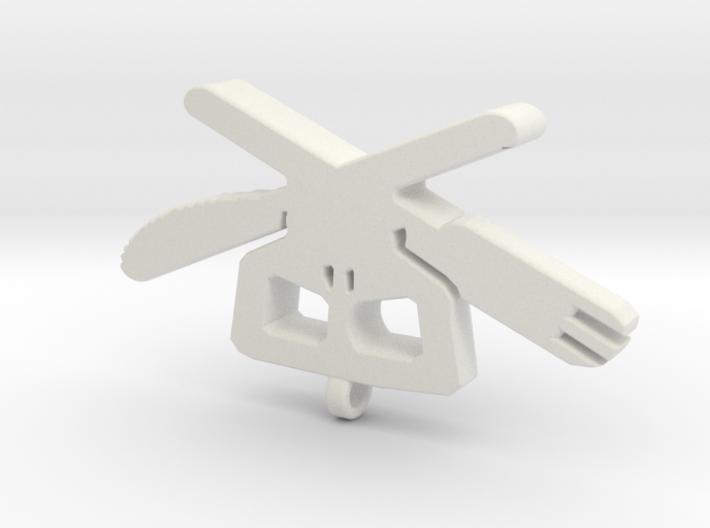 Cross Utensils Pendant 3d printed