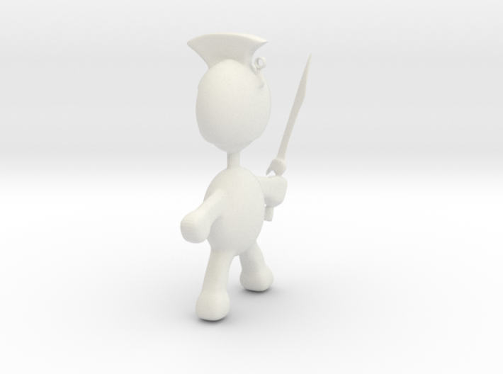 Spartan pendant charm 3d printed