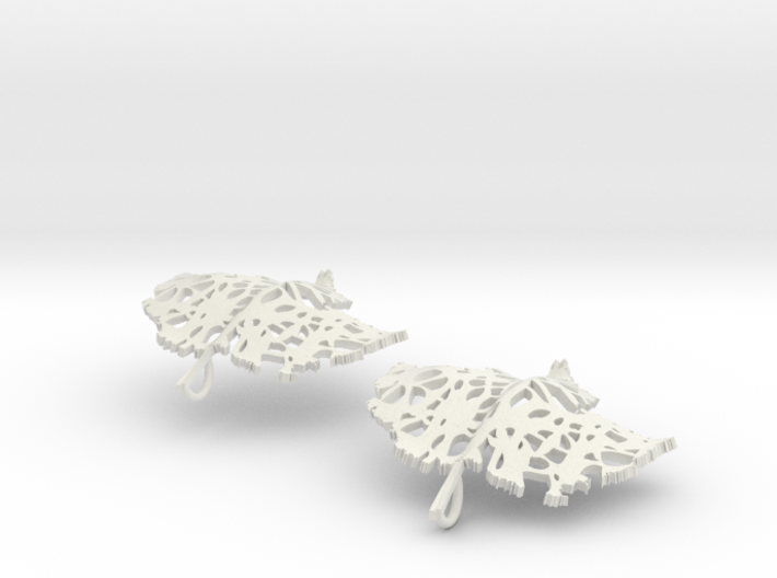 Pair of Leaflet Earings 3d printed