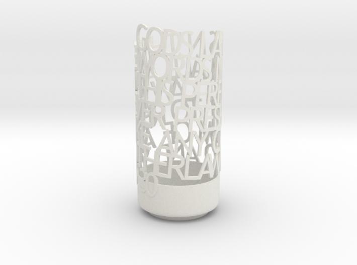 Light Poem jill 3d printed