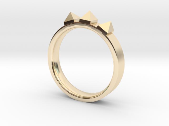 Edwardian Crown Ring - Sz. 5 3d printed