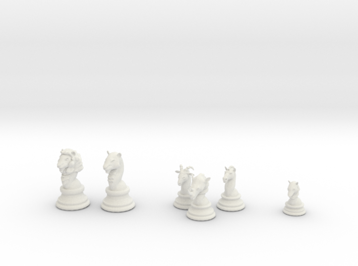 Individual Chess pieces - Animal Kingdom 3d printed