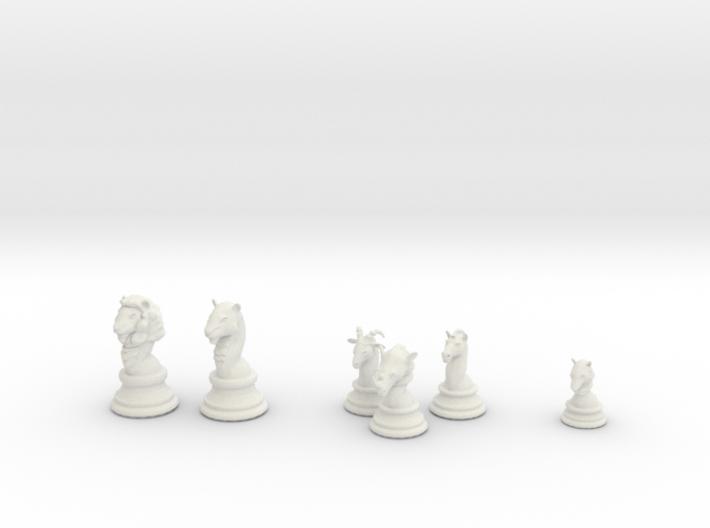 Individual Chess pieces - Animal Kingdom 3d printed