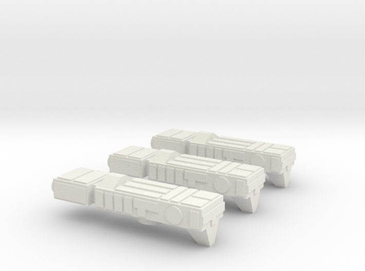 Fleet Scale Series 1: Terran System Defense Ships 3d printed
