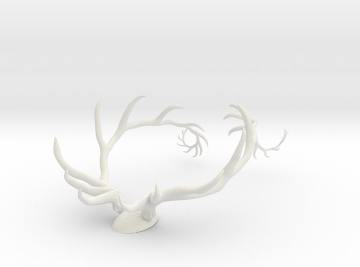 Antler Set w/Backing 3d printed