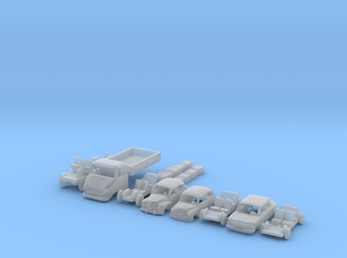 BONUS SET 1960s cars (N 1:160) 3d printed