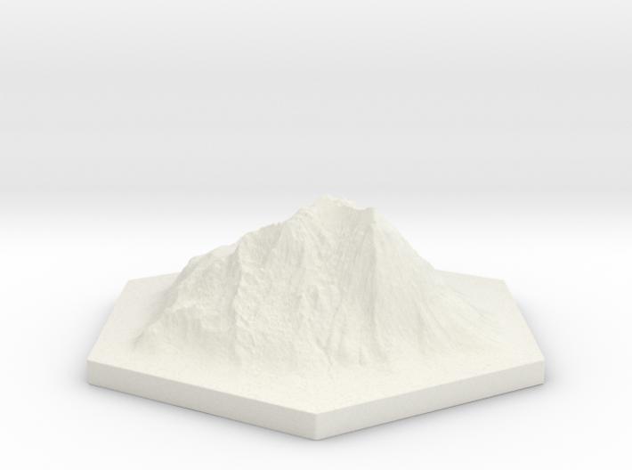Catan mountain hexagon 3d printed