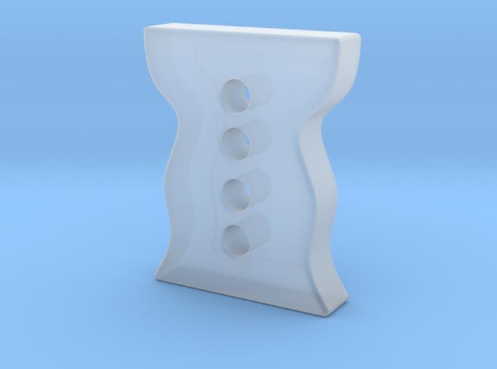 Designer button 5 3d printed