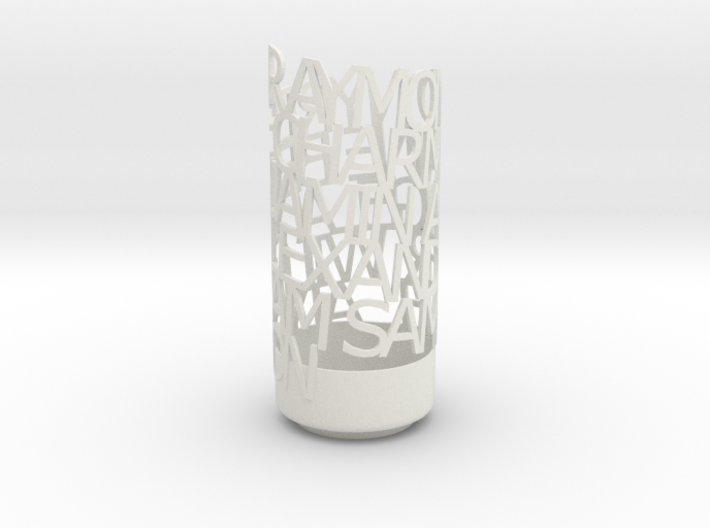 Light Poem verdana 3d printed