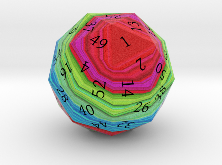 Red, Green, and Blue d60 3d printed