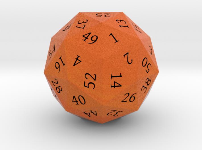 Bright Orange d60 3d printed