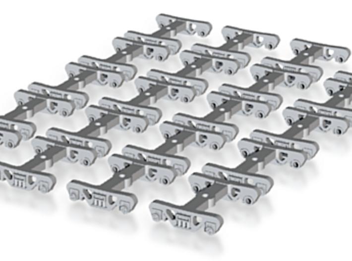 10 Pairs TT Scale Roller Bearing Trucks 3d printed