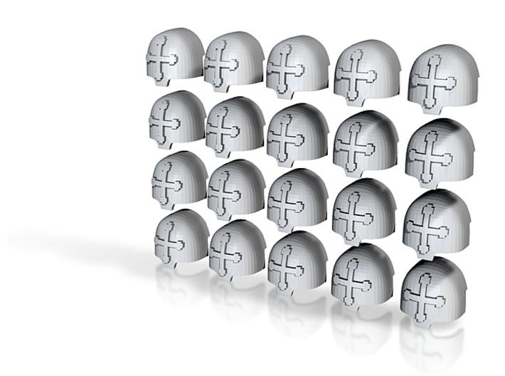 20 28mm Custom Large Shoulder Pad Cross 3d printed