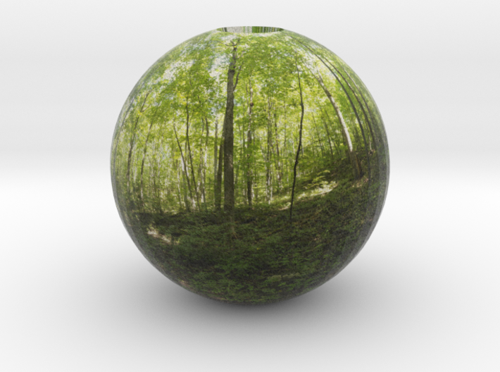 pano sphere 1 - opened 3d printed