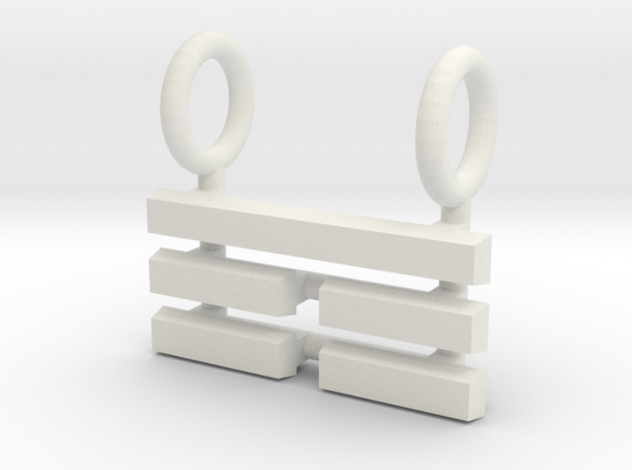 I Ching Trigram Pendant - Ken Upper 3d printed