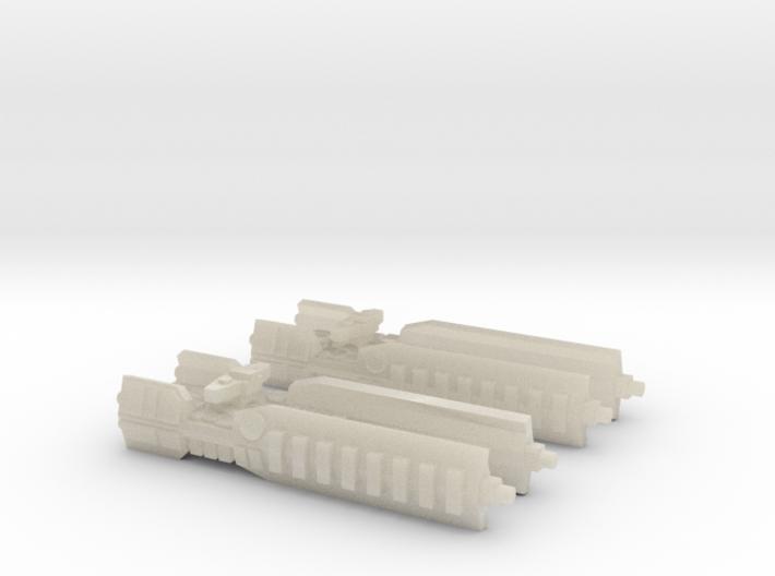 Fleet Scale Series 1: Terran Heavy Cruiser 3d printed