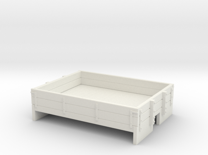 OO9 2 plank dropside wagon (short) 3d printed